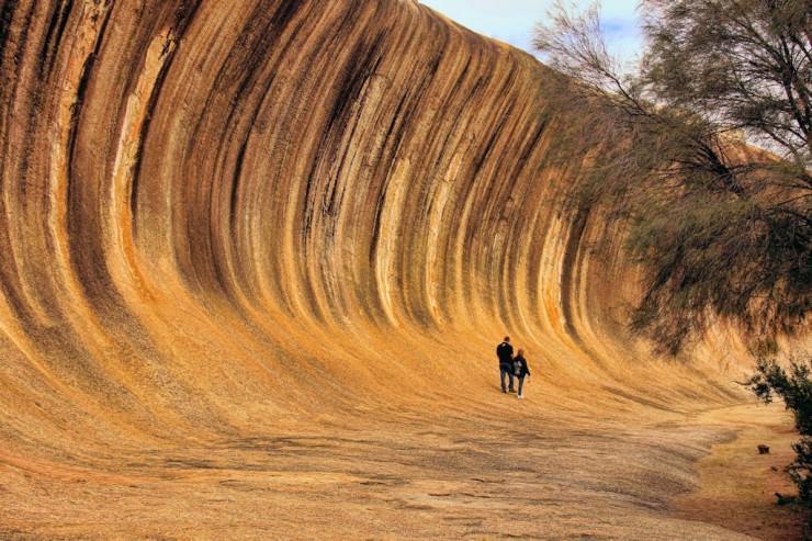 یک دیوار طبیعی در هیدن، استرالیا