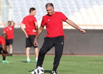 گزارش تمرین تیم ملی فوتبال، کی روش خاتمه لباس ورزشی پوشید، ساکت با تاخیر آمد، معرفی مدیر رسانه ای جدید تیم ملی + تصاویر