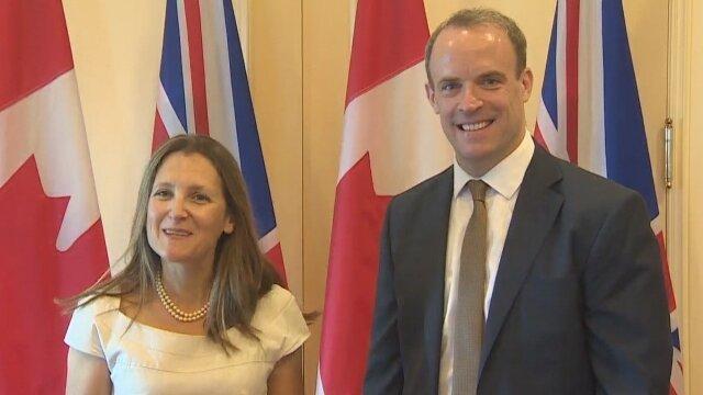 وزرای خارجه انگلیس و کانادا درباره ایران گفت وگو کردند