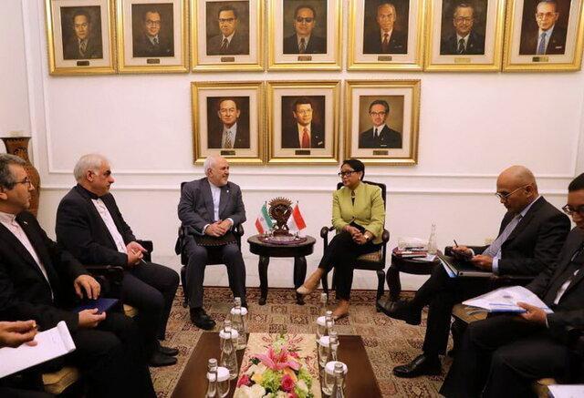 ظریف با وزیر خارجه اندونزی دیدار کرد