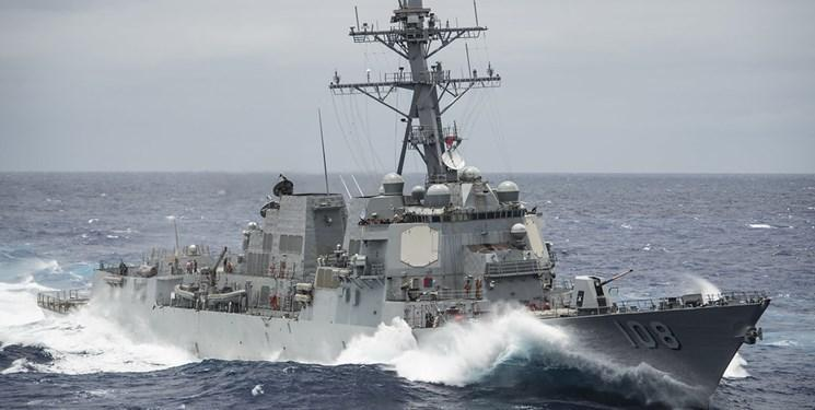 ورود ناوشکن آمریکایی به آب های دریای چین جنوبی برای مقابله با چین