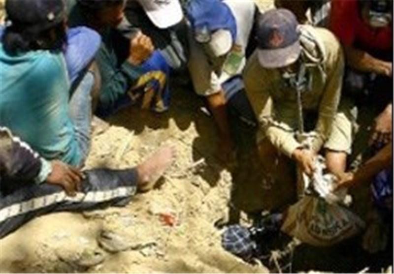 محبوس شدن 20 تن درپی ریزش یک معدن در شرق چین