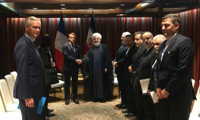 روحانی و مکرون دیدار کردند ، انتقاد روحانی از بیانیه مشترک تروئیکای اروپایی