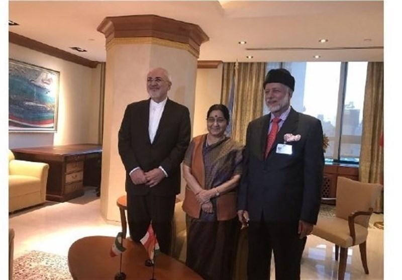 دیدار وزرای خارجه ایران، هند و عمان