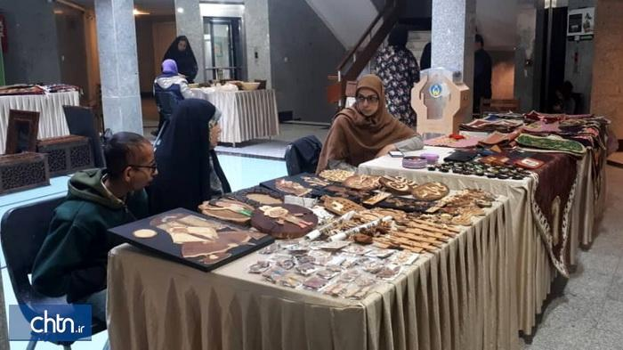 برپایی نمایشگاه صنایع دستی در اداره کل امور اقتصادی و دارایی قزوین