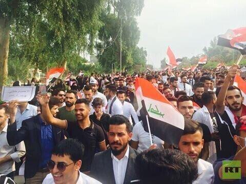 نیروهای امنیتی در میدان التحریر و 3 پل در مرکز بغداد حضور یافتند