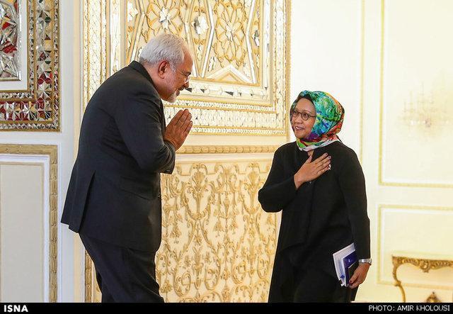 گفت وگوی تلفنی وزیر امور خارجه اندونزی با ظریف در خصوص حوادث تروریستی تهران