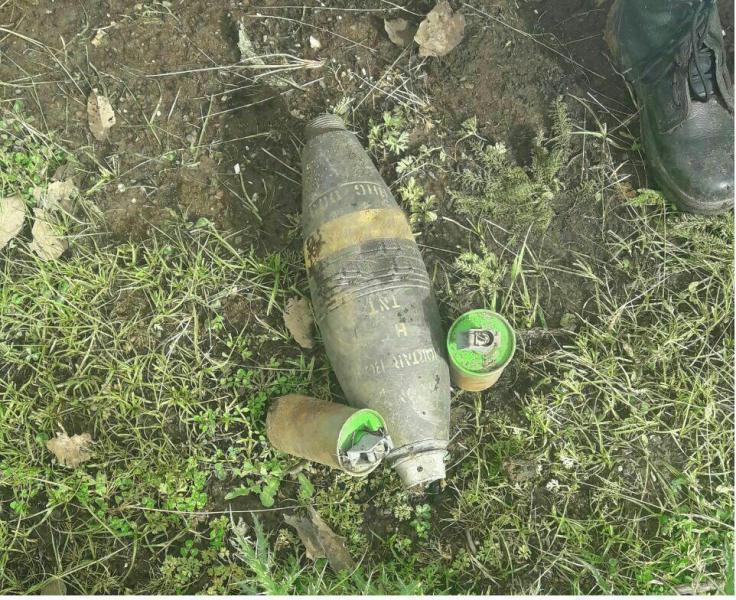 پیدا شدن گلوله جنگی در منزل یک شهروند دهلرانی