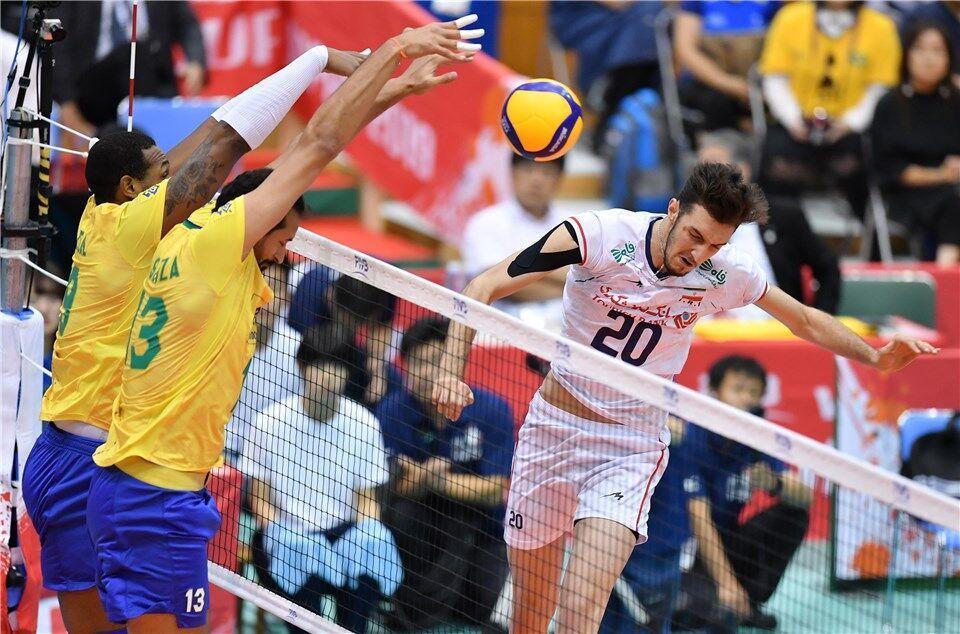 زور بازیکنان جوان والیبال ایران به برزیل نرسید ، سومین شکست در پنجمین مسابقه در جام جهانی