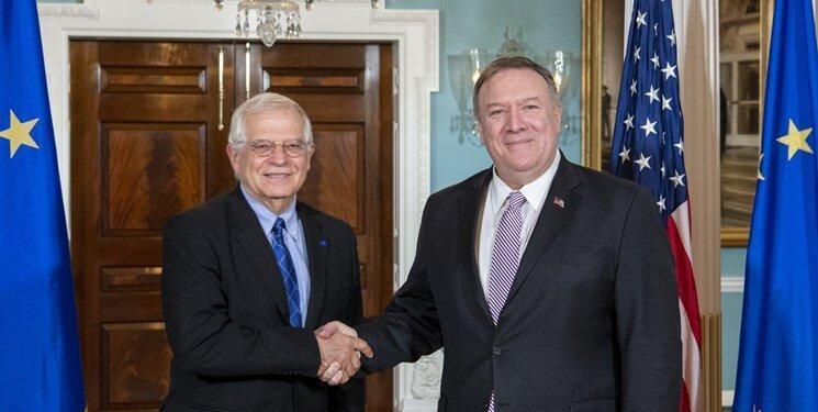 پمپئو: اروپایی ها در قبال ایران با ما هم نظر هستند
