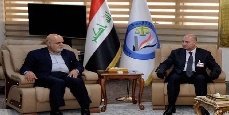 ملاقات سفیر ایران با وزیر دادگستری عراق