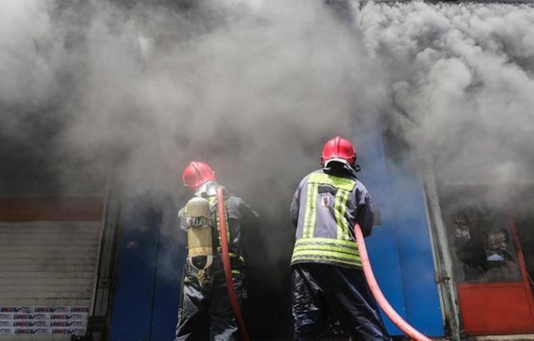آتش سوزی در نیروگاه تبریز