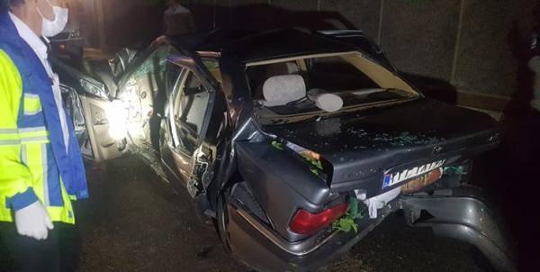 تصادف شدید 5 خودرو در بزرگراه امام علی (ع)