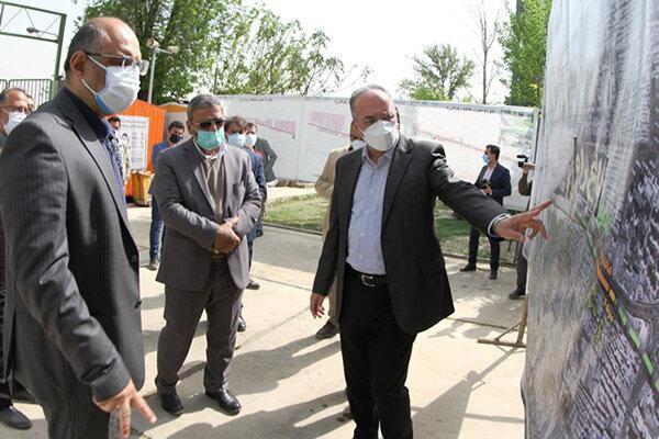 بازدید از پروژه احداث باغ راه حضرت فاطمه زهرا(س)
