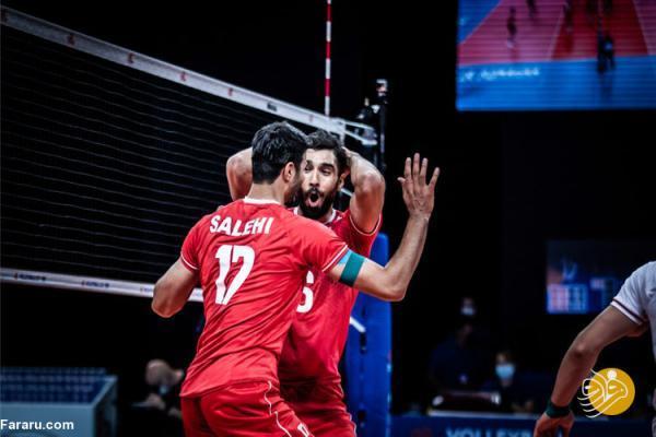 ساعت بازی والیبال ایران - صربستان