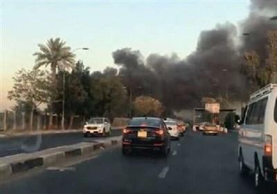 فرودگاه المثنی بغداد دچار حریق شد